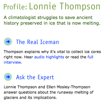 Nova Science Now Profile: Lonnie Thompson