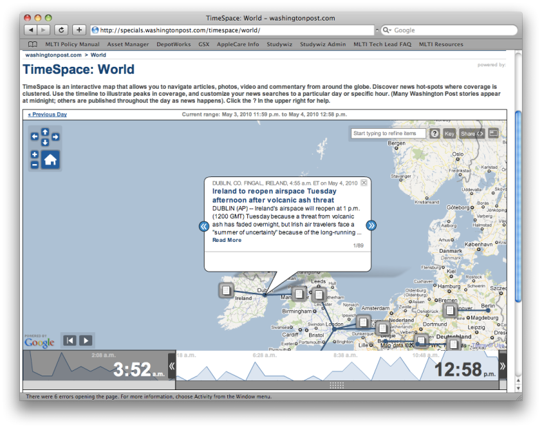 TimeSpace: World from The Washington Post