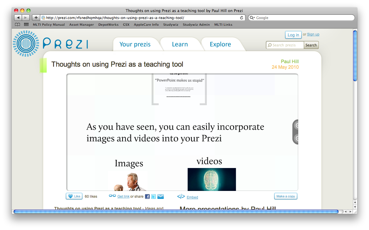 Website of the Week: Prezi | Tech 2 Teach