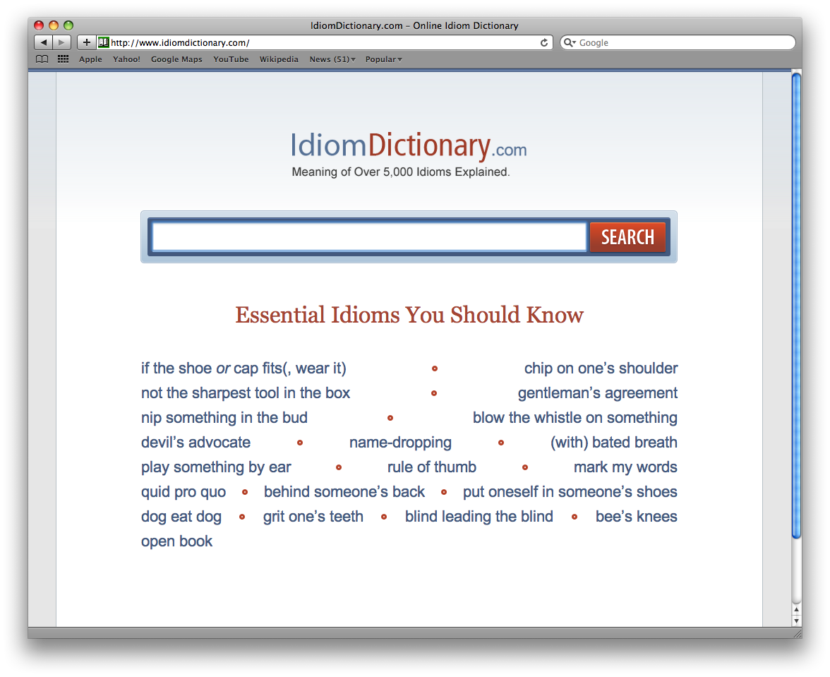 Website of the Week: Online Idiom Dictionary | Tech 2 Teach