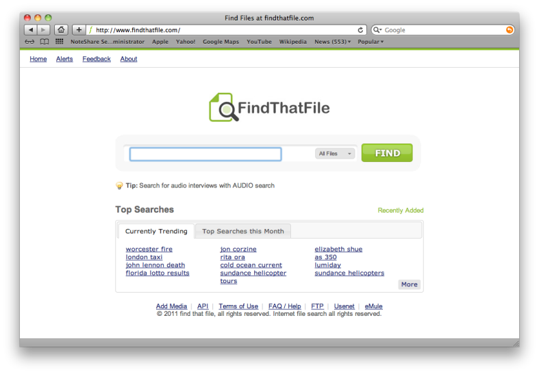 Find That File Search Engine Screenshot