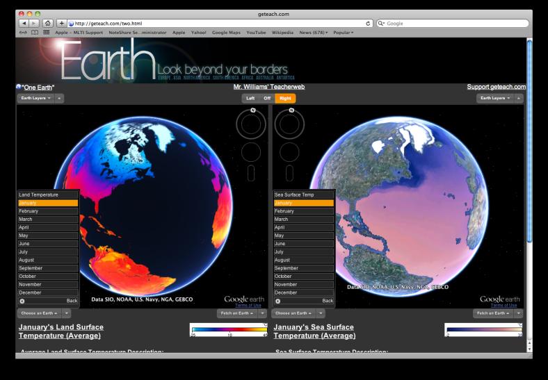 Screenshot of GE Teach website