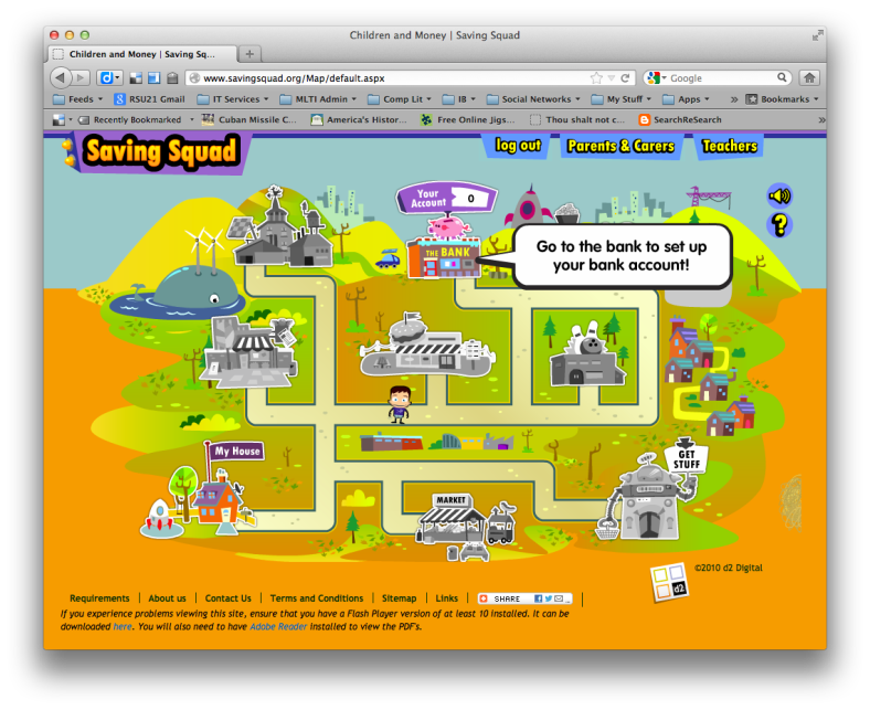 A screenshot of the Saving Squad game board