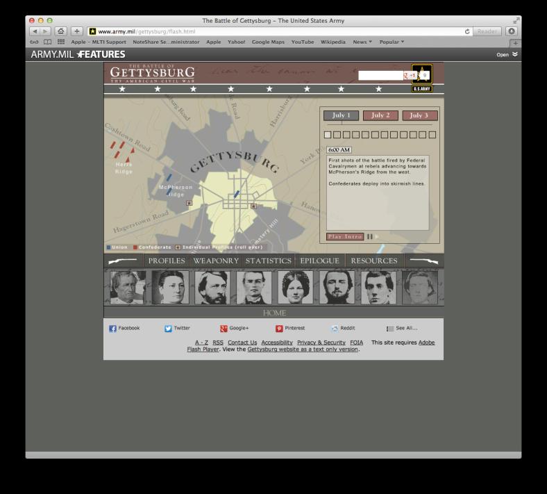 Screenshot of the site interface window