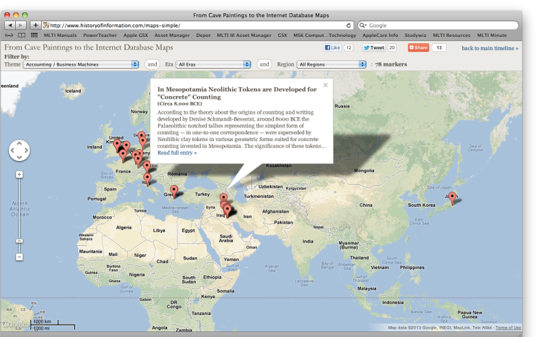 Screenshot of map interface