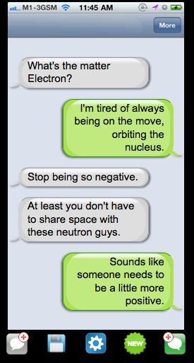 Text message conversation sample screenshot