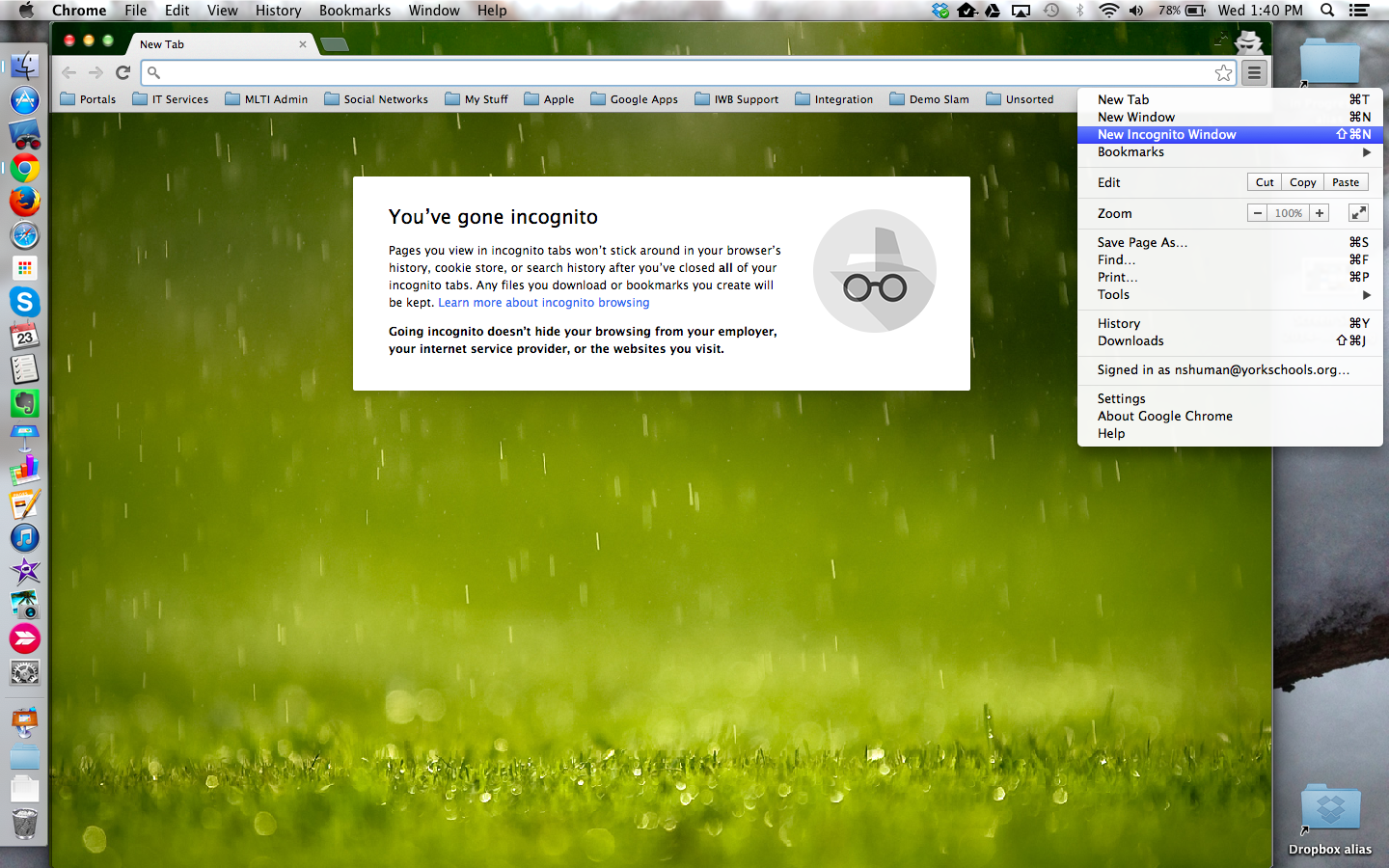 how to go private on google chrome