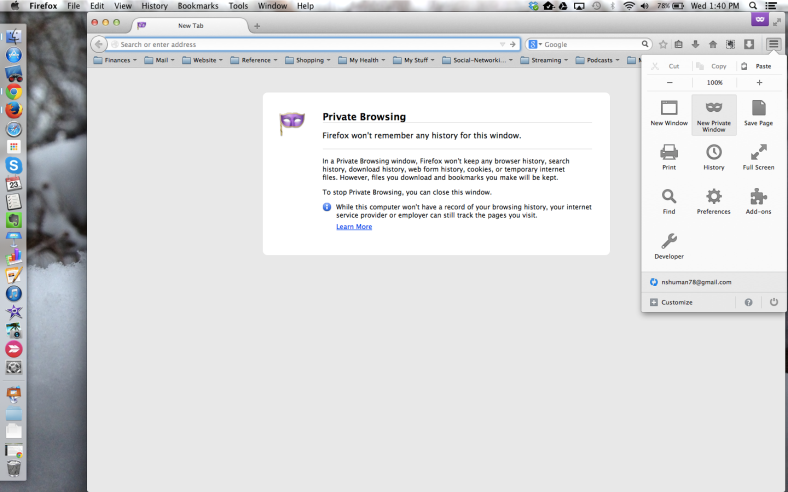 Firefox-Private Browsing Mode