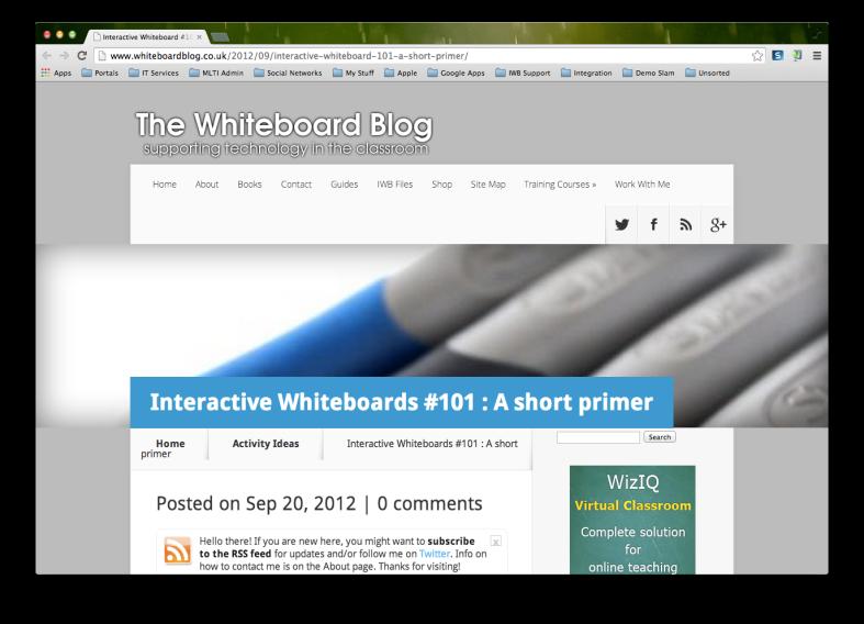 Whiteboard blog screenshot