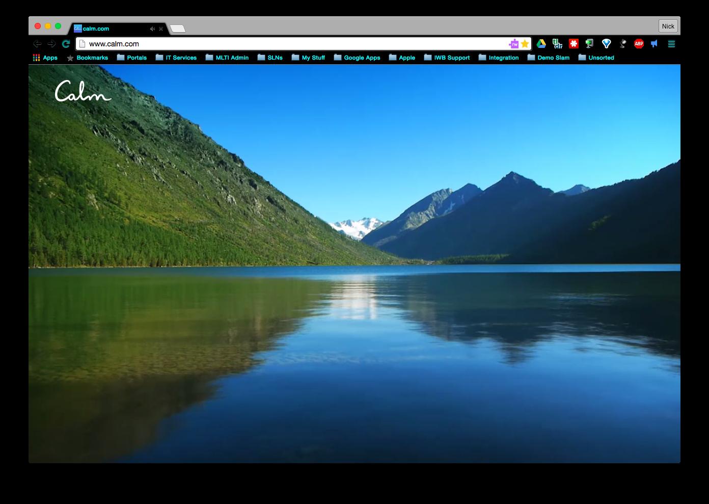 Calm site screenshot