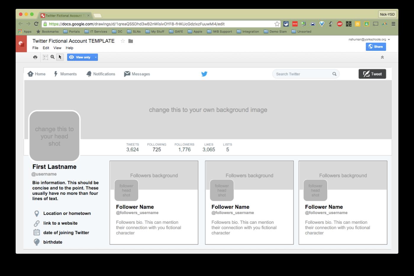 Wunderbar Twitter Profilvorlage Fotos - Entry Level Resume Vorlagen ...