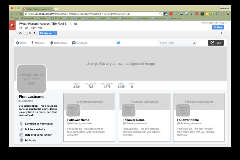 Fake Twitter Profile SS