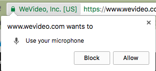 Chrome OS allow microphone prompt