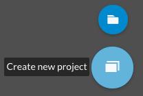 Create project/folder button in WeVideo