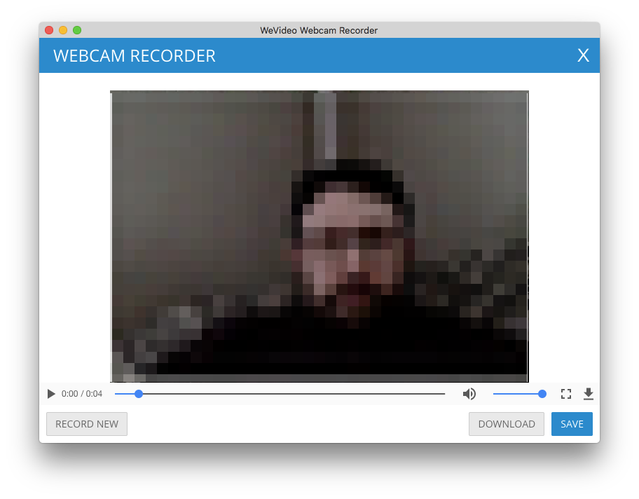 Webcam recorder preview window