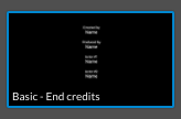 Basic - End credits template