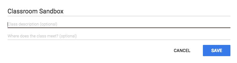 Class settings editor window