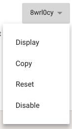 Class code drop-down menu options