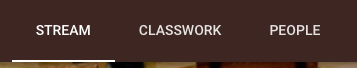 Google Classroom navigation tabs