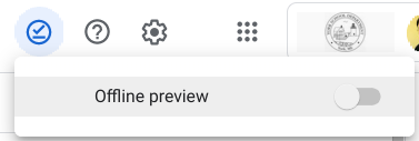 Google Drive Offline preview menu
